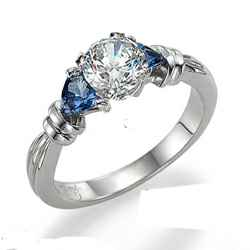 Engagement ring settings with 3/4 carat Sapphires