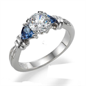 Picture of Engagement ring settings with 3/4 carat Sapphires