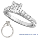 Picture of Engagement ring with 1/2 Carat side diamonds