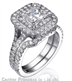 Picture of Double Halo Bridal Set, 1 carat side stones