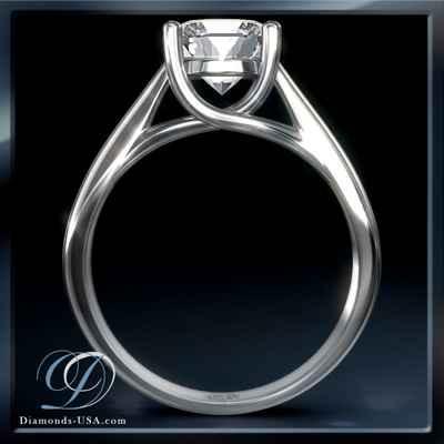 CrissCross, solitaire engagement ring