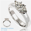 Picture of East West Marquise Diamond Ring