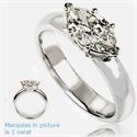 Foto Anillo de compromiso, de diamante Marquesa este-oeste de