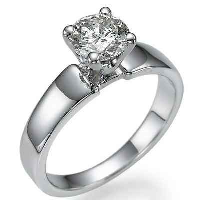 Wide Classic engagement ring