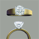 Picture of Wide Classic engagement ring
