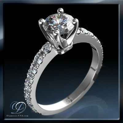 Open Pave diamonds engagement ring