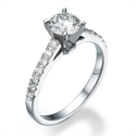 Picture of Solid delicate engagement ring