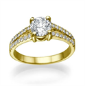 Picture of Split band engagement ring