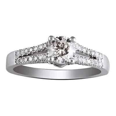 Split band engagement ring for all diamonds