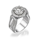 Picture of Tailored to your diamond engagement ring,1.90 cts sides