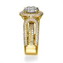 Foto Anillo de compromiso, de diamantes adaptado a su diamante, laterales de 1,90 quilates de