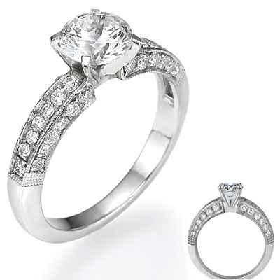 Three sides diamond covered