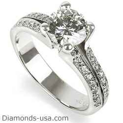 Split Band Engagement Ring with 1/4 Carat Diamonds