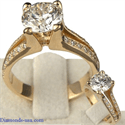 Picture of Split Band Engagement Ring with 1/4 Carat Diamonds