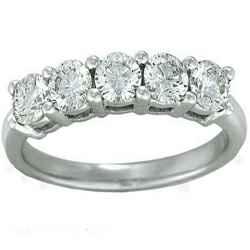Five diamonds 2.00- 2.05 carat Total, Average F SI1