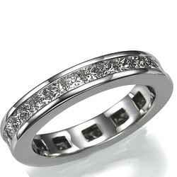 Eternity ring,2.06 carats Princess diamonds
