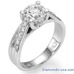 Crisscross engagement ring  for larger centers