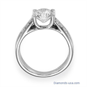 Picture of Crisscross engagement ring  for larger centers