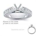 Foto Anillo de compromiso engastado con diamantes de 0,80 quilates de