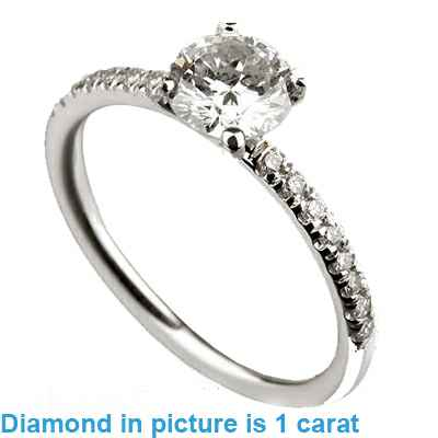 Solid tube ring with side diamonds