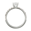 Picture of Solid tube ring with side diamonds