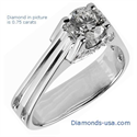 Picture of The Eiffel Diamond Engagement Ring