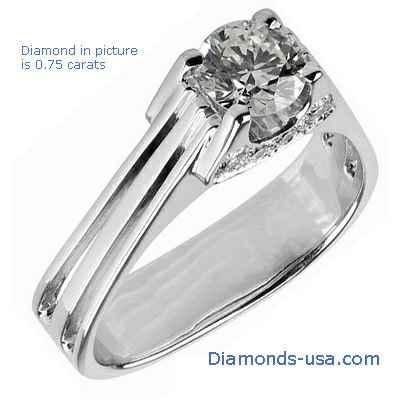 The Eiffel Diamond Engagement Ring