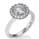 Foto Anillo de compromiso con cabeza de anillo Halo de