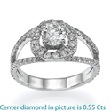 Picture of Diamond ring,0.50 carat sides