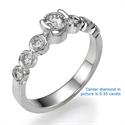 Picture of Seven diamonds engagement ring settings