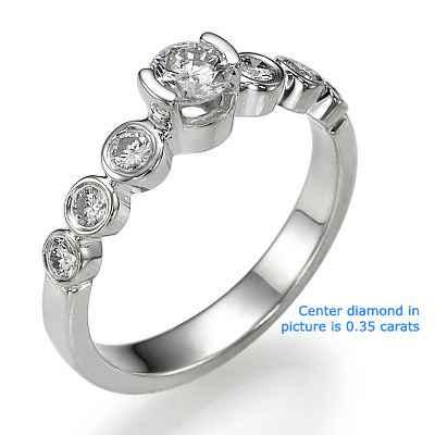 Seven diamonds engagement ring settings