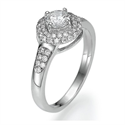 Picture of Engagement ring withTwo rows Halo