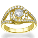 Picture of Tying-the-Knot  Engagement ring, set with side diamonds