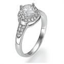 Foto Halo de una fila para diamantes más grandes. de