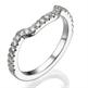 Foto Anillo de matrimonio a juego con diamantes laterales de