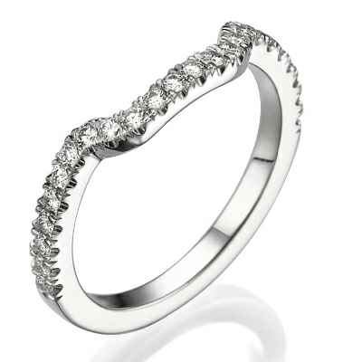 Matching wedding ring with side diamonds
