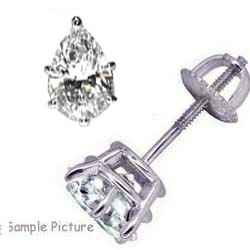 Pear Shaped Diamond Earring Studs