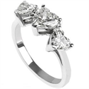 Foto Three hearts diamond ring de
