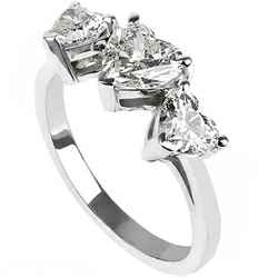 Three hearts diamond ring