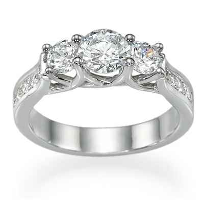 New Crisscross three stones ring for Rounds & Princes
