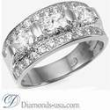 Foto Designers three stones oval diamond ring de