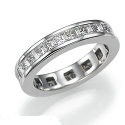 Princess and Baguettes diamond eternity band