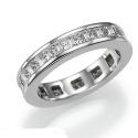 Picture of Princess and Baguettes diamond eternity band