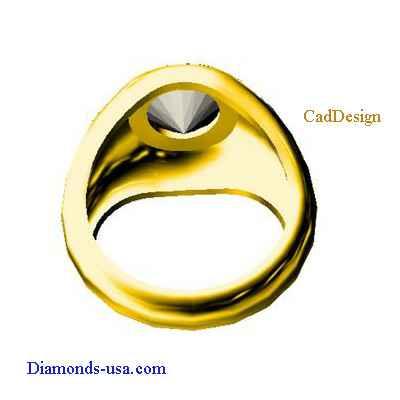 Men ring for round diamonds