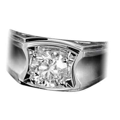 Man diamond ring