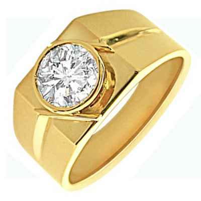 Bezel set Man diamond ring
