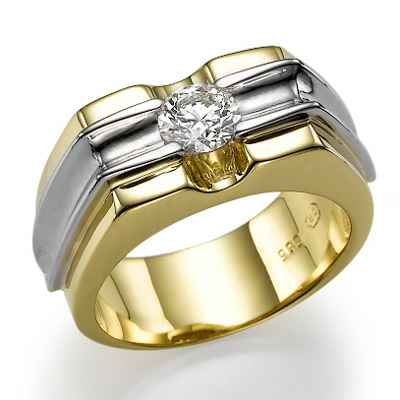 Men round diamond ring