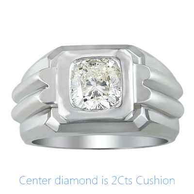 Heavy Men diamond ring