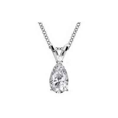 Colgante Solitario para diamantes en forma de Pera