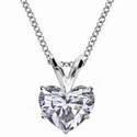 Foto Colgante Solitario para diamantes en forma de corazón de